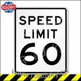 임시 알루미늄 제한 속도 교통 안전 경고 표시