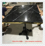 カウンタートップおよびタイルのための卸し売り磨かれた砥石で研がれた中国の黒い大理石の平板