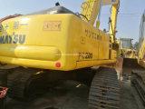 Escavadeira Komatsu em segunda mão utilizados escavadora de rastos hidráulico200-6 do PC