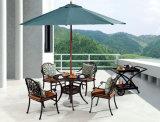 Tabella esterna/Patio/HS6105dt/del giardino rattan della fusion d'alluminio
