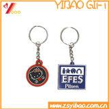 Metallo molle Keychain dello smalto della tazza su ordine di gioco del calcio con il marchio inciso (YB-K-017)