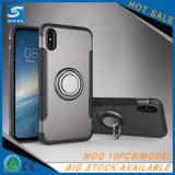 für iPhone X, glänzender kühler Ring-Halter-Rüstungs-Telefon-Kasten