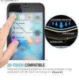 Protector ultra claro de la pantalla del vidrio Tempered de la Anti-Burbuja HD del tacto de Ctunes 3D para el iPhone 6/6s