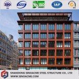 Paneles sándwich de poliuretano decorado edificio de estructura de acero prefabricados