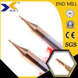 Micro grain bille en carbure de tungstène de matières premières le nez fin Mill Outils de coupe