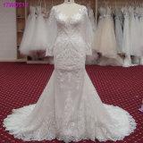 Шнурок мантий длинних втулок Bridal Appliques платье венчания 2018