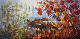 Haute qualité à la main effet texturé de pétrole lourd de l'huile de couteau peintures pour décoration murale