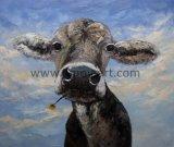 Les Chinois de gros de peintures d'huile animale Fleur de toile de vache pour les murs