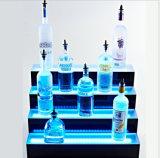 Estante montado en la pared del sostenedor de botella de vino, estante de visualización rústico del licor