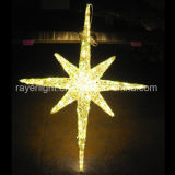3-D 1m pólo LED luzes de estrela para decoração de férias