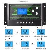 30A van Controlemechanisme 12V/24V van de Last van het Net het Zonne met Settable lCD-Backlight