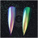 Polvo de acrílico de la sirena del pigmento del espejo de la manicura del arco iris de la aurora mágica del unicornio