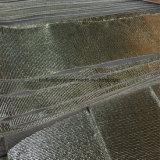 反射物質的な熱絶縁体のアルミホイルの上塗を施してあるガラス繊維の布