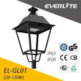 Lanterne légère extérieure de dessus de poste de la lampe 110lm/W 60W DEL de jardin de DEL