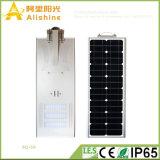 diodo emissor de luz Monocrystalline todo do silicone 50W em uma iluminação ao ar livre solar da luz de rua