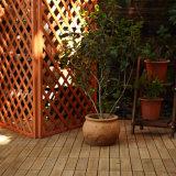 屋外の庭の安い価格の防水連結の装飾的なアカシアの木の床の材木のDeckingのタイル