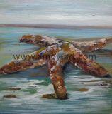 Étoile de mer à la main de l'huile de gros de peintures sur toile pour la décoration d'accueil