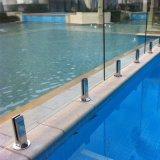 Railing плавательного бассеина Spigot нержавеющей стали балюстрады балкона стеклянный стеклянный