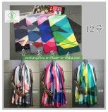 Новый Шелковый печати базовой станции движении солнцезащитный крем шаль моды женщин Без шарфа