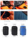 야영해 2 사람 겨울 2개의 베개를 가진 두 배 슬리핑백 하이킹