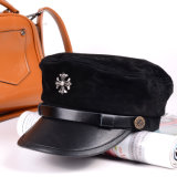 Lazer preta Suede Hat Witn Logotipo Customed Militar