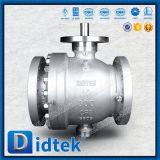 L'essai A105 de Didtek 100% a modifié le robinet à tournant sphérique de tourillon avec l'usine chimique