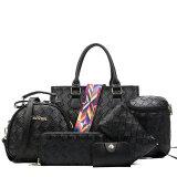 2017 doet de Nieuwe 6 Stukken Dame Fashion Handbag Leather Set Dames Handtas in zakken