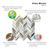 暖炉Backsplashのためのハイエンド小さいモザイク・ガラスのタイルシート