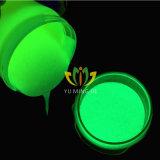 Resplandor de color verde en el polvo de pigmento oscuro brillo de la Hight Yellow-Green pigmento resplandor