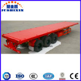 Portador Flatbed Semi Trailr do recipiente de 3 eixos para a venda