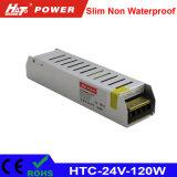 24V 5Um transformador LED 120W AC/DC Fonte de alimentação Comutação HTC