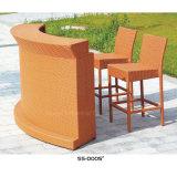 Muebles de mimbre del patio de la rota del estilo de Europa con la alta silla