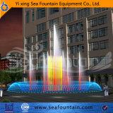 De kleurrijke Muzikale Fontein Van verschillende media van het Beeldhouwwerk