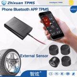 Système de contrôle TPMS Bluetooth de pression de pneu 4 détecteurs internes externes TPMS pour le téléphone androïde