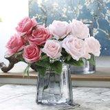 공장 도매 인공 실크 로즈 꽃 꽃다발