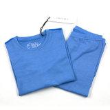 Свет - нижнее белье голубых Merino детей шерстей термально установило на зима
