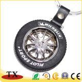Kundenspezifische Firmenzeichen-Automobil-Rad-Reifen-Gummischlüsselkette
