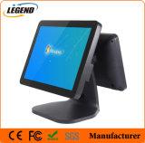 Горячая Продажа 15-дюймовый сенсорный экран окна системы POS машины с 12-дюймовый дисплей покупателя