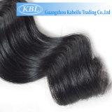Cheveux humains brésiliens de noir de gicleur de nouveaux produits