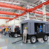 Carreta rebocável Móvel Montado no Compressor de ar de parafuso portátil para máquina de perfuração