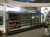 Супермаркет Multideck холодильник для фруктов и овощей на дисплее