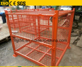 Faltbarer stapelbarer Metalldraht-Ineinander greifen-Ladeplatten-Behälter mit Kappen/Deckel