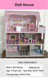 Casa 2017 de muñeca grande de la manera de Hotselling DIY con muebles