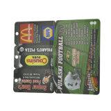 a impressão 4color personalizou o cartão cortado PVC não padronizado do plástico