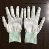 """PU упор для рук с покрытием из нейлона перчатки на """"чистом"""" производстве рабочей"""