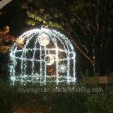 LED de diseño exclusivo de Iluminación Creativa Bird Cage decoraciones de Navidad