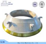 Qualité Symons 4 1/4 DST concave et pièces de broyeur de cône de manteau