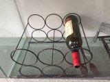 Crémaillère de vin en métal d'étalage de 2 rangées