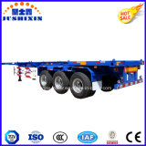 40FT 3Esqueleto eixos/esquelético Utilitário do Chassi/contentor de carga veículo semi reboque
