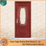 Desheng Haus-Innentür Kerala konzipiert festes Teakholz-hölzernen Tür-Preis mit Glas